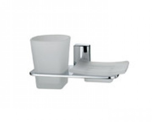 Держатель для стакана и мыльницы WasserKRAFT Leine K-5026