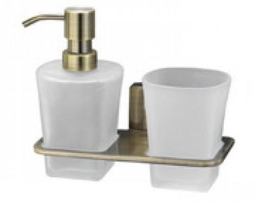 Подстаканник WasserKRAFT Exter K-5289 с дозатором для жидкого мыла