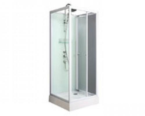 Душевая кабина Comforty 606 белая, прозрачное стекло (90х90х220)