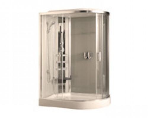 Душевая кабина Comforty 183L белая, стекло прозрачное (120х85х215)