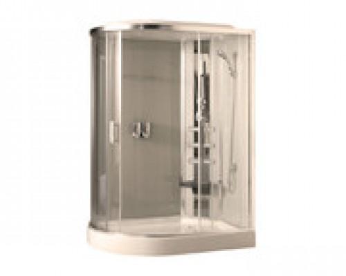 Душевая кабина Comforty 183R белая, стекло прозрачное (120х85х215)