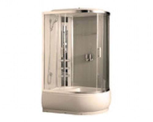 Душевая кабина Comforty 184L белая, стекло прозрачное (120х85х215)