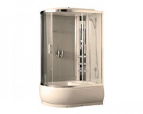 Душевая кабина Comforty 184R белая, стекло прозрачное (120х85х215)