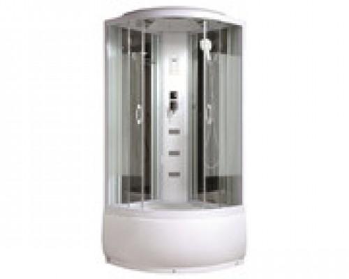 Душевая кабина Comforty 212 белая, стекло страйп (90х90х215)