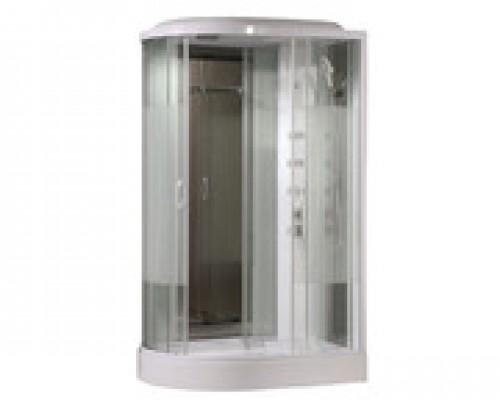 Душевая кабина Comforty 213R белая, стекло страйп (120х85х215)