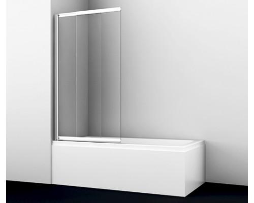 Стеклянная шторка на ванну, двухстворчатая, с покрытием стекла Main 80 см 41S02-80 WasserSchutz WasserKraft