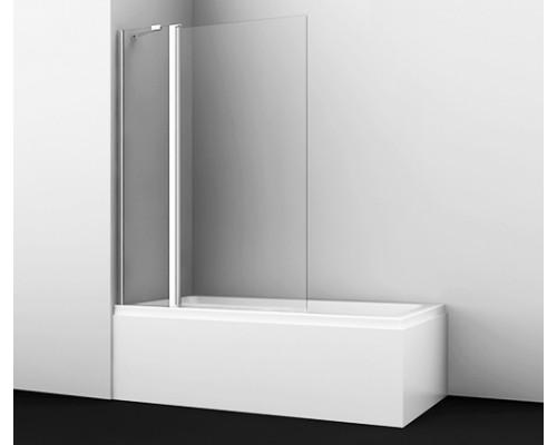 Стеклянная шторка на ванну, распашная, двухстворчатая Berkel 110 см 48P02-110 Fixed WasserKraft