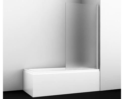 Стеклянная шторка на ванну, одностворчатая, правосторонняя, матовое стекло Berkel 80 см 48P01-80R Matt glass WasserKraft